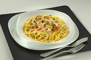 Receita de Spaghetti ao Molho Cremoso com Cação