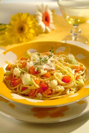 Receita de Spaghetti com Ricota e Legumes