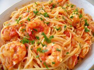 Receita de Spaguetti com Camarão