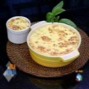Receita de Suflê de Legumes do Edu Guedes
