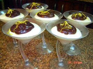 Receita de Taças de mousse de limão siciliano e ganache
