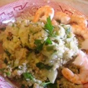 Receita de Tabule com camarão