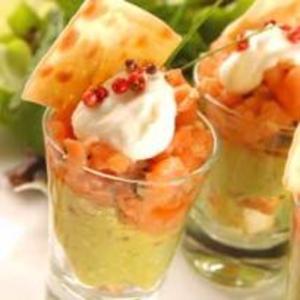 Receita de Tartar de Salmon com Guacamole