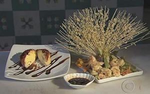 Receita de Tempurá de legumes, camarão e sorvete frito