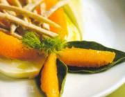 Tirinhas de lombo de porco com erva doce e laranja