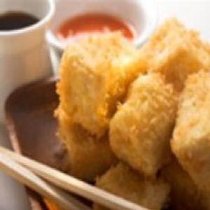 Receita de Tofu Frito com kani e Legumes