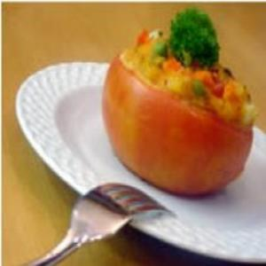 Receita de Tomate Assado Recheado com Legumes