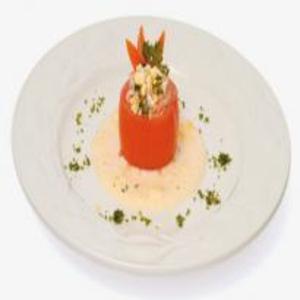 Receita de Tomate recheado de arroz atum e maionese