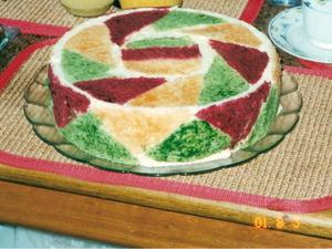 Receita de Torta Colorida de Frango Defumado