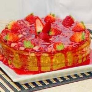 Receita de Torta Crocante de Queijo com Geléia de Morango