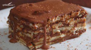Receita de Torta de Biscoito Maria