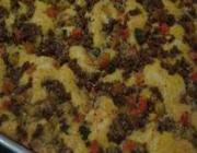 Torta de carne e legumes fácil