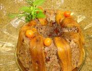 Torta de carne moída com banana da terra