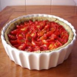 Receita de Torta de cebola e tomate cereja