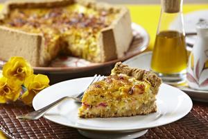 Receita de Torta de Cenoura com Alho-Poró