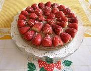 Torta de Chocolate e Morangos