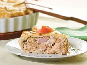 Receita de Torta de frango com castanha de caju