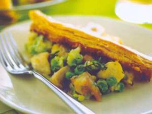 Receita de Torta de frango com ervilhas