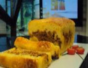 Torta de Fubá com Carne Moída e Banana do Edu Guedes