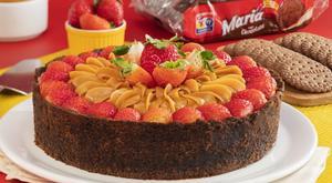 Receita de Torta de Morango com Doce de Leite