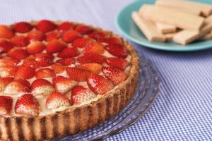 Receita de Torta de Morango com Wafer