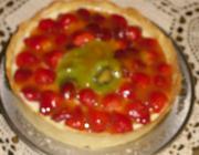 Torta de morango e kiwi