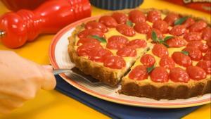 Receita de Torta de Queijo com Tomate