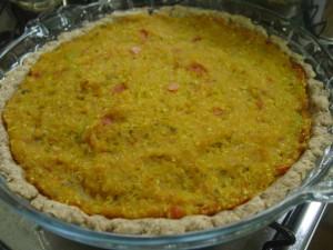 Receita de Torta de quinua com abóbora cabotia