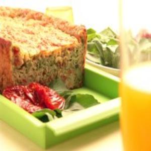 Receita de Torta de Rúcula e Tomate Seco