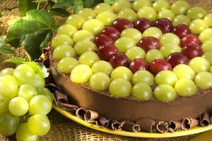 Receita de Torta de Uva com Creme de Chocolate
