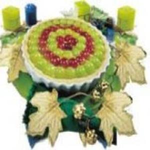 Receita de Torta Guirlanda de Uvas