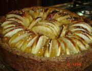 Torta integral com purê de damascos e maçã
