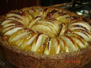 Receita de Torta integral com purê de damascos e maçã
