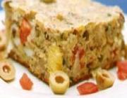 Torta Salgada de Sardinha e Azeitona