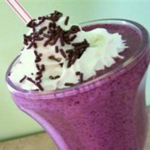 Receita de Vitamina de mirtilo (blueberry)