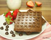Waffle de chocolate duplo
