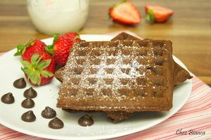 Receita de Waffle de chocolate duplo