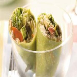 Receita de Wrap Legumes com Cream Cheese