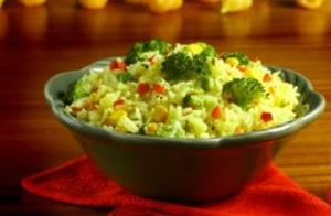 Receita de Arroz rápido com verduras