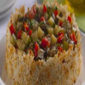 Receita de Assado Crocante de Arroz e Legumes