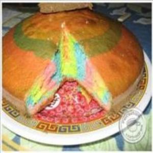 Receita de Bolo arco íris