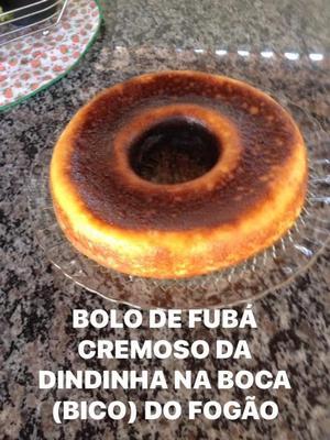 Receita de Bolo de Fubá Cremoso da Dindinha na Boca (bico) do fogão