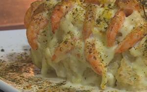 Receita de Cascata de camarão com couve-flor