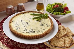 Receita de Cheesecake de Espinafre
