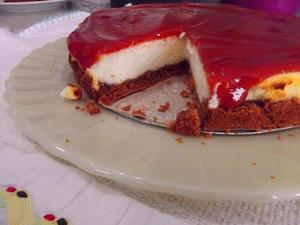 Receita de Cheesecake de Ricota com Goiabada