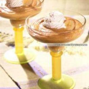 Receita de Creme de Chocolate com Banana e Chantilly
