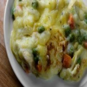 Receita de Creme de frango com legumes ao forno