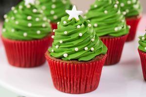 Receita de Cupcake de Árvore de Natal