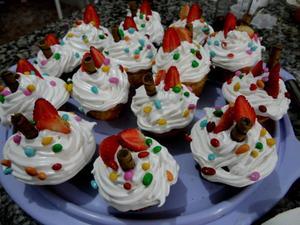 Receita de Cupcake de cenoura