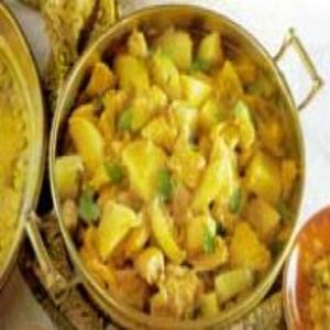 Receita de Frango ao curry com batatas